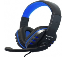 Headset Gamer Xp F-12 Preto/azul Tecdrive
